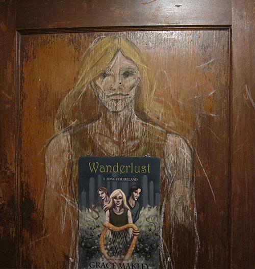 Pastel Vanya on wood door
