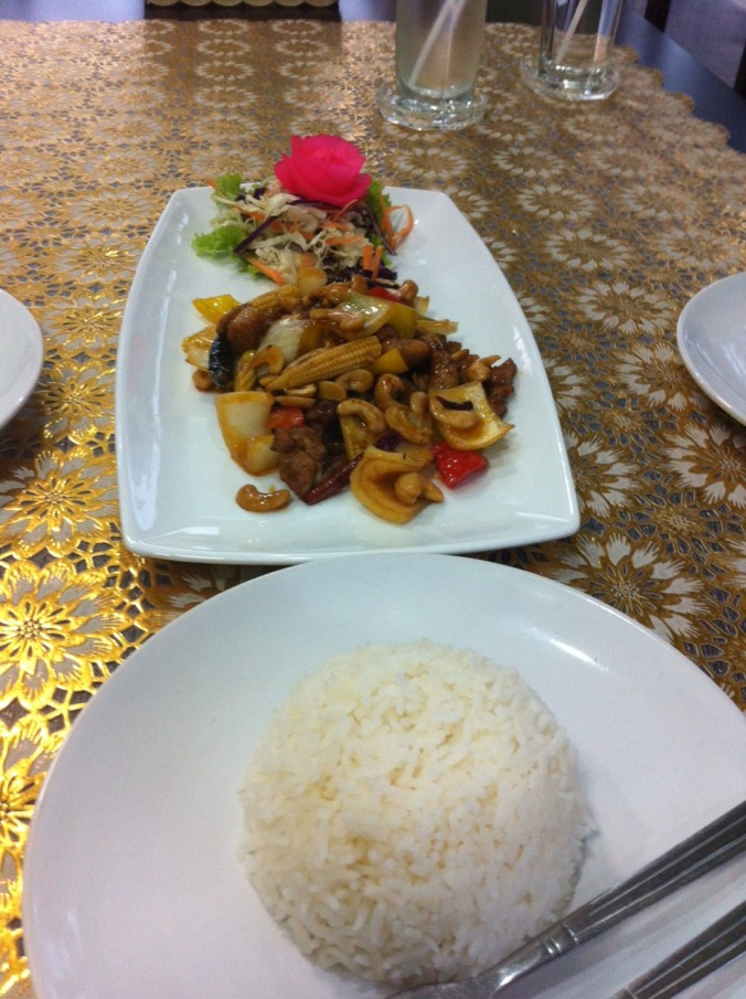 Fried chicken with rice and cashews. Have I mentioned that everything I've eaten here was delicious?