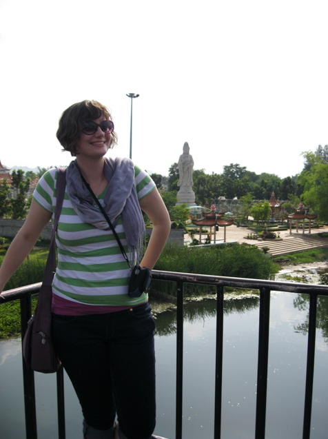 On the Bridge over the River Kwai. My arm looks like a noodle, but I sure am in Thailand!