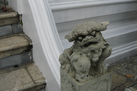 My favorite little guardian demon from the Grand Palace in Bangkok.